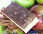 Holiday Sale - Apple Crumble Soap - Brown Sugar Scrub Bar with Oatmeal, Dessert, Bakery Scented Soap, Apple Pie Scent