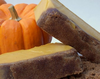 Pumpkin Sugar Scrub Soap - The Great Pumpkin Soap with Pumpkin Puree and Brown Sugar - Pumpkin Pie Desert Soap