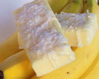 Going Bananas Soap -  Banana and Coconut Creme Scent - Yellow Banana, Monkey Bakery Soap