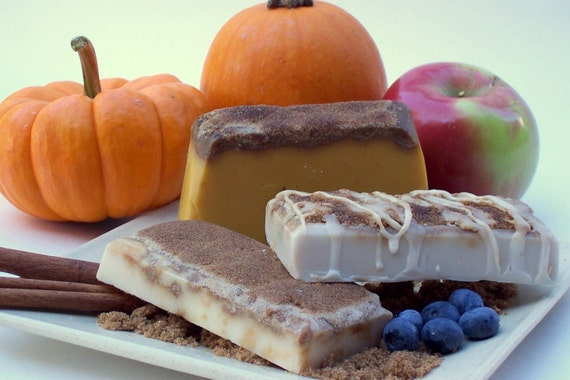 SNS SALE - Pumpkin Pie, Blueberry Cobbler, and Apple Crisp 3 BAR SOAP ...
