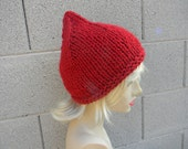 Knitting pattern for beanie, pixie cap or hat - great for beginners-