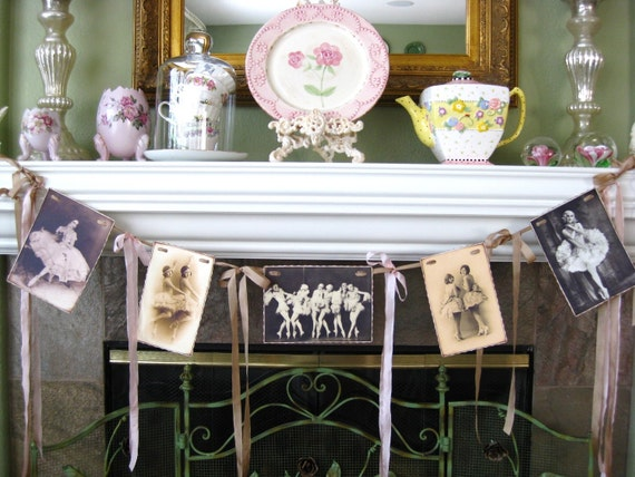Ballerinas  In A Row Garland Bunting Banner Vintage Style