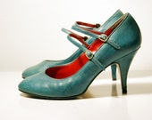 Vintage Teal Pumps