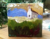 church Painting Original by artbytracee
