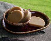 Brown Leather Handmade Soap for Men by Britewerkz Bubbles