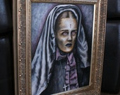 Habit Nun Cross  - Original Painting