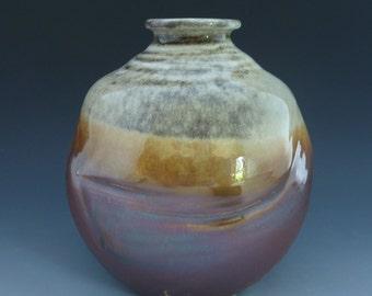 Vase Bottle - Wood Fired-190