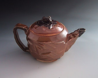 Teapot Wood Fired Gold Shino - 281