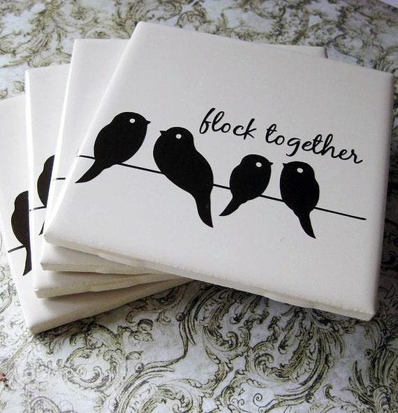 Flock Together Bird Coasters..