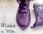 MUSTARDSEED Bespoke Leather and Vegan Handmade bohemian fairy boots in your size and colour choice