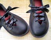 QUINCE, UK 6, Handmade leather shoes, D fitting, Jet black, 1688