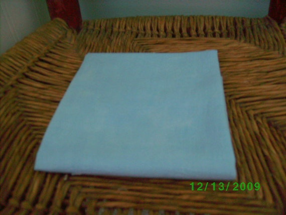 Vintage  Solid Color Floursack   Quilting/Vintage Quilt Repair  Baby Blue