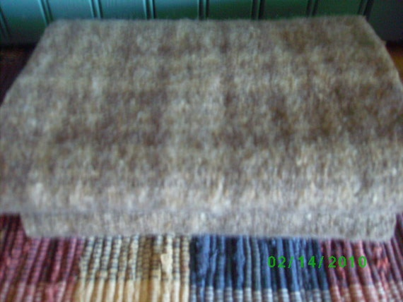 Lot of  Rug Hooking Wool Fabric  Brown & Taupe