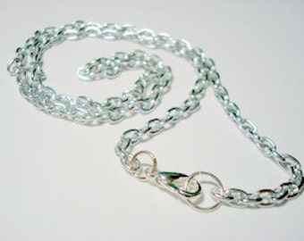 Silver-Plated Chain for Pendants