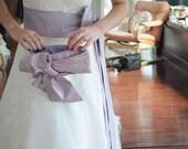 Clutch in lilac silk dupioni,  Bridal Clutch, Big Bow Purse, Dusty Lilac, wedding formal handbag