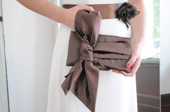 Custom Listing Reserved for Elaine - Silver Gray Satin Clutch - The Elle Jane Clutch,  bow clutch purse