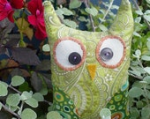 Green Paisley Owl