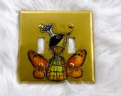 Bird Head Butterfly Wings Dress Form Light Switch Cover Steam Punk inspired