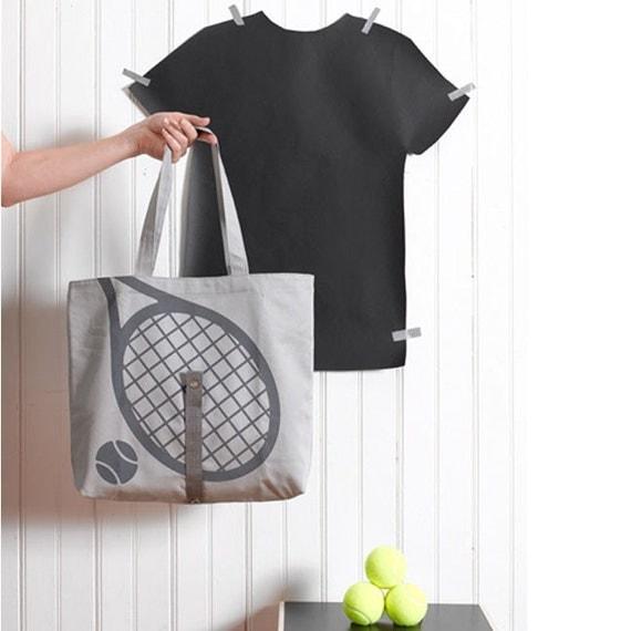 Tennis Print Tote