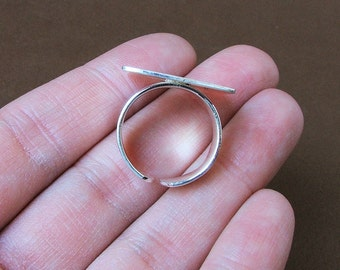 Matte Silver Square Ring - Perfect for Altered Art Jewelry or DIY Projects