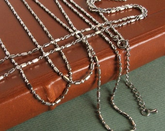 4 Fashion Chains  -Silver Plated  -Lots of Sparkle-Great to hang pendants on