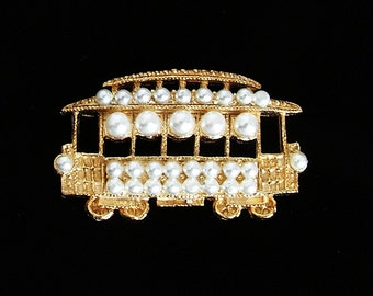 Trolley Embellishment with Pearls - Super Cute
