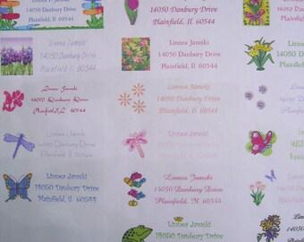 spring GLITTERED  address labels