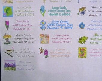 not glittered spring address labels