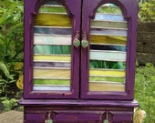 Purple-licious Jewelry Box with Stained Glass