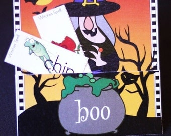 Witches Spell Halloween Printable Spelling Game