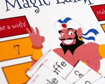 Magic Lamp Printable Game and Skill Sheet