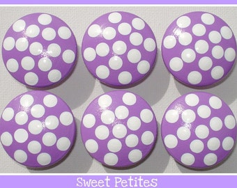 Kids Dresser Knobs - Hand Painted Knobs - Polka Dots - All Colors Available - Drawer Pulls