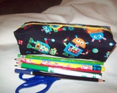 Customer Order Robot and Unicorn Pencil bags