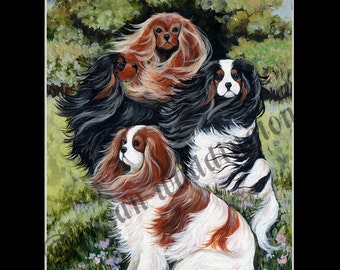 matted 8x10 Cavalier King Charles Spaniel print
