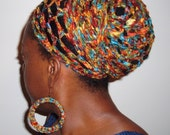 The MAkEEDA HEaDWRAP LiMiTeD Edition in Copper Rainbow Crochet Headwrap Discontinued Color