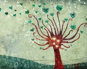 Tree Art - Love Blooms - 24x36 LARGE Print