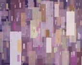 Cityscape art - Perpetual City - 8x10 - purple city art print