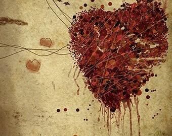Easily Broken - 12x18 Heart Art Print