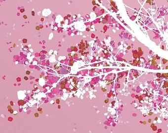 Cherry Blossoms Art - Carefree Days (pink) - 8x10 Print