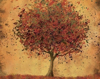 Autumn Home Decor Art - Welcome Change (burnt orange) - 8x10 Print