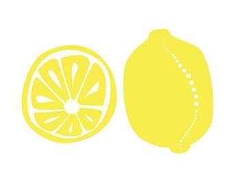 Lemons Kitchen art - 5x7 Print - yellow - Home Decor