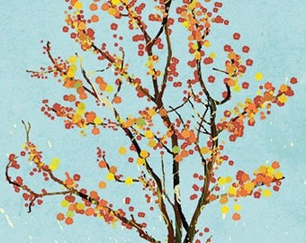 24x36 Large Art Print - Dancer in the Dark (blue) - LARGE Print - Tree art