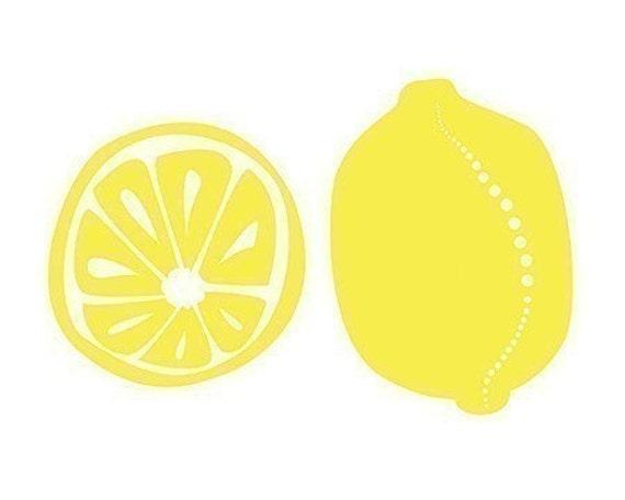 Lemons Art Kitchen art - 8x10 Print - yellow