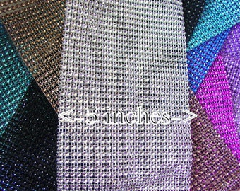 ONE yard Diamond mesh - 5 inches wide - 14 colors to choose