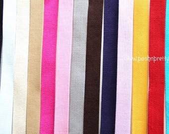 TWO YARDS 1.25 inches Cotton Heavy Duty webbing - Choose COLOR