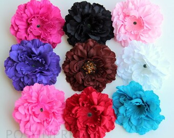 Five 3 Inches MINI Peony Soft Petal Flowers pick COLORS