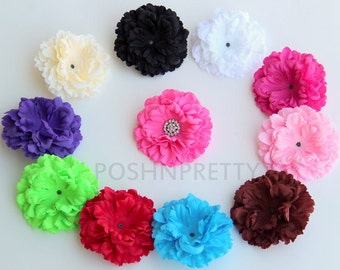 Five 4 Inches Peony Soft Petal Flowers pick COLORS