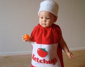 Baby Costume Toddler Costume Halloween Costume Ketchup Costume Ketchup Bottle