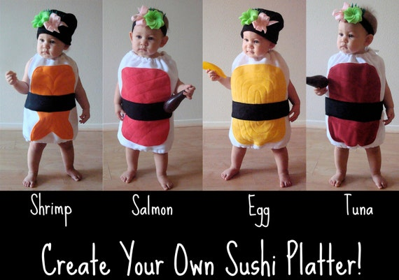 Delicious Nigiri Sushi Baby or Toddler Halloween Costume