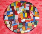 Dangerous Curves colorful mosaic 2.25 inch magnet